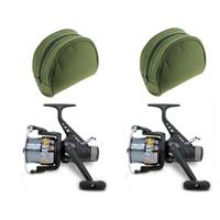 2 x Lineaeffe Free Carp Freespool Carp Runner Fishing Reel with